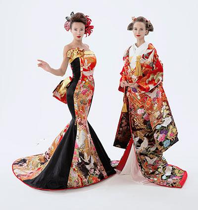打掛の反物から創るアリアンサの和ドレス