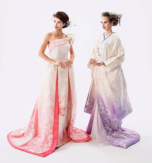 糸からこだわる映える柄へのこだわり:和ドレスウェディング