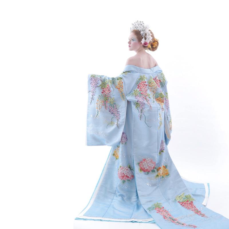 着物風ドレス 華やかな髪型 アリアンサ 撮影