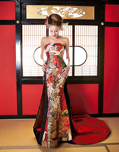 誰もマネできない個性的な和のドレスを作りたい