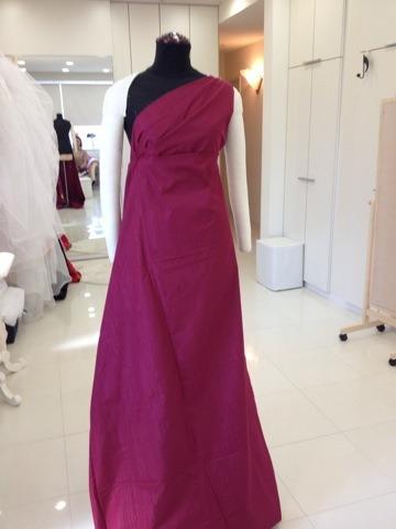 ロングドレス ピンで作る ドレスを生地からイメージ アリアンサ