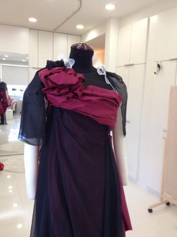 部分的にピンクをつけた ドレス イメージ アリアンサ