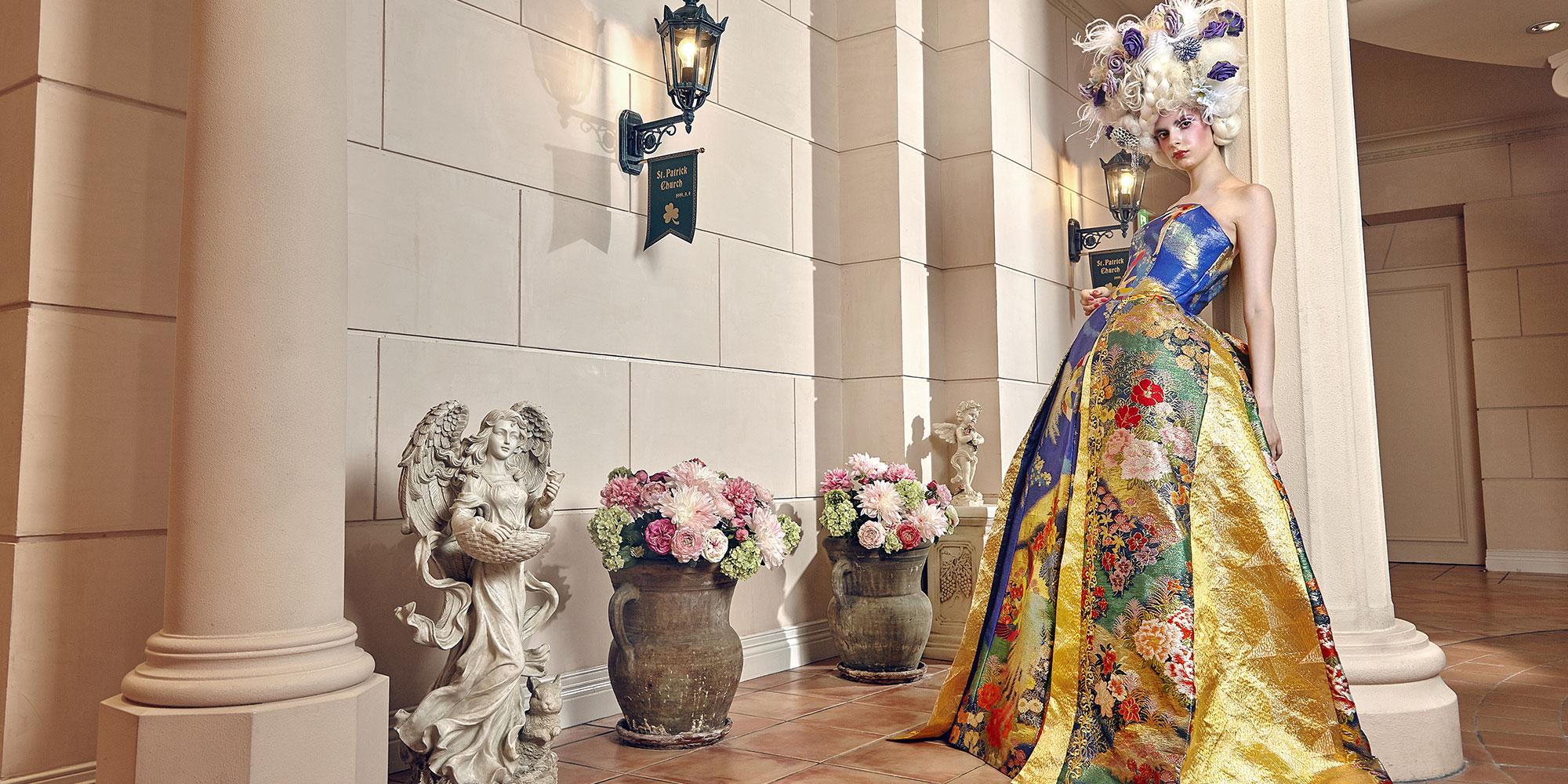 c7a9e809839f6 和ドレス・ウェディングドレスレンタルのアリアンサ|着物ドレス・打掛ドレス・カラードレス・コンテストドレスのオーダーメイド、レンタル・ドレス制作、販売